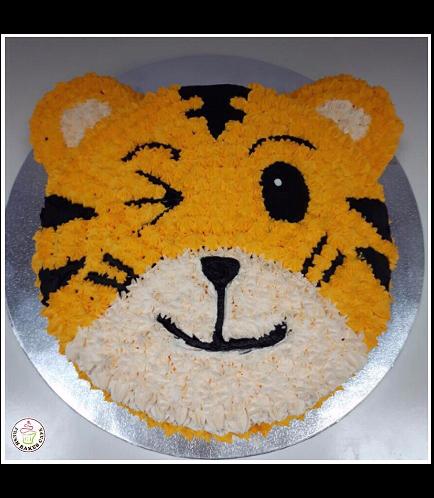 Tiger Themed Cake - Tiger Face - Cream Cake 01a