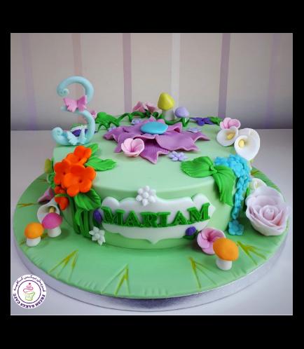 Tinker Bell Themed cake 06