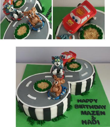 Cake - Tom & Jerry  & Disney Pixar Lightning McQueen