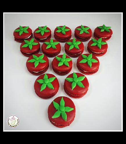 Tomato Themed Macarons
