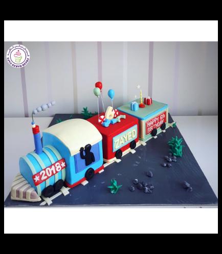 Train Themed Cake - 3D Cake 01b