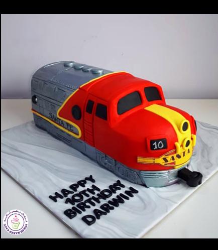 Train Themed Cake - 3D Cake - Santa Fe