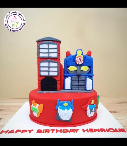 Cake - Optimus Prime - 2D Cake Topper 02