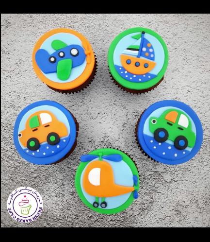 Transportation Themed Cupcakes 01