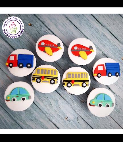 Transportation Themed Cupcakes 03