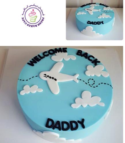 Cake - Airplane - 2D Cake Topper 01