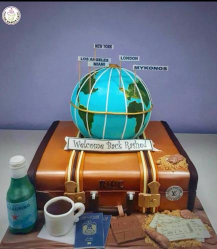 Cake - Suitcase - 3D Cake - 3D Globe