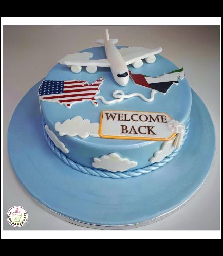 Cake - Airplane - 3D Cake Topper & Maps - Fondant Cake 01a
