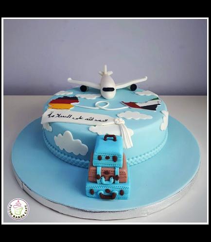 Cake - Airplane - 3D Cake Topper & Maps - Fondant Cake 04