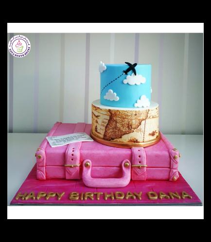 Cake - Suitcase - 3D Cake - World Map