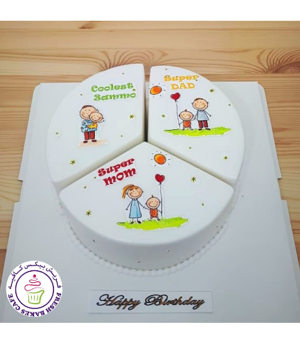 Cake - Triple Celebration - Printed Pictures 01