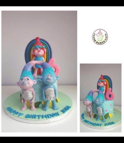 Trolls Themed Cake 09