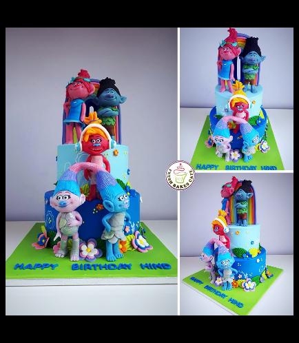 Trolls Themed Cake 03c