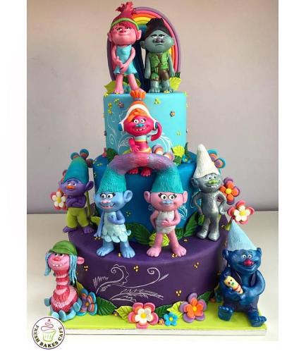 Trolls Themed Cake 03a