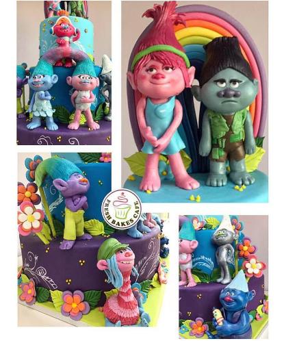 Trolls Themed Cake 03b