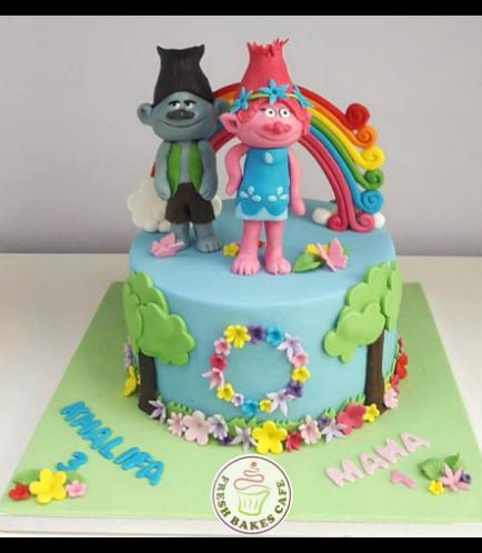 Trolls Themed Cake 04