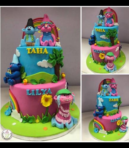 Trolls Themed Cake 07
