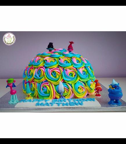 Trolls Themed Piñata Cake