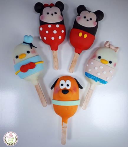 Tsum Tsum Themed Popsicakes