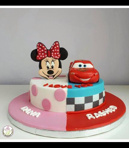 Cake - Minnie Mouse & Disney Pixar Lightning McQueen