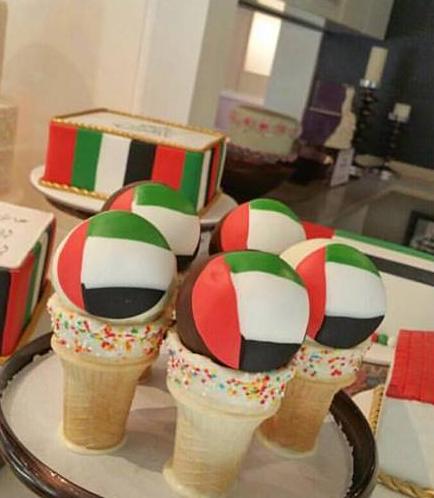 UAE Flag Themed Cone Cake Pops 01