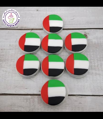 UAE Flag Themed Chocolate Covered Oreos