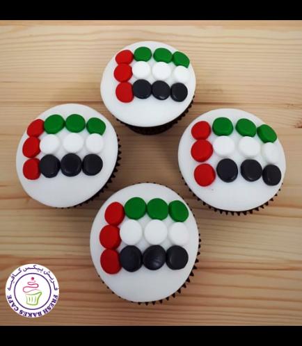 Cupcakes - Flag - Fondant Dots