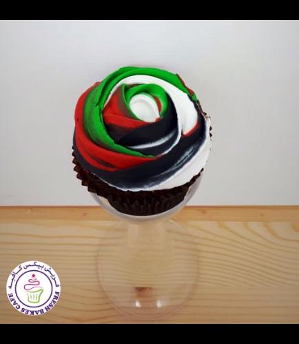 Cupcakes - Flag Colors - Cream Rose