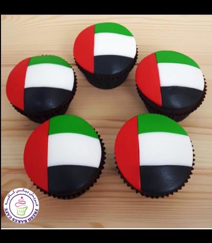 Cupcakes - Flag - Fondant