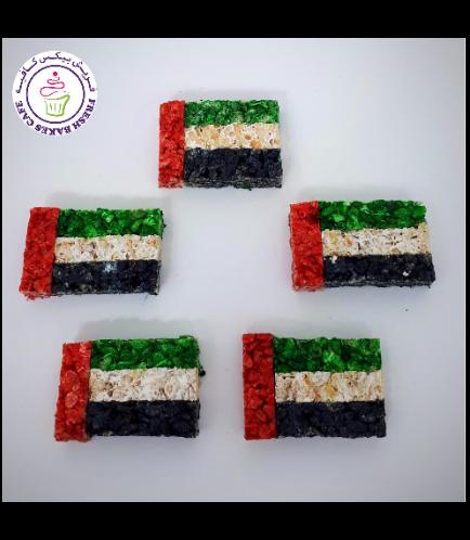 UAE Flag Themed Krispie Treats