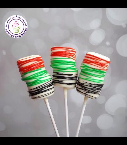 UAE Flag Colors Themed Marshmallow Pops 01