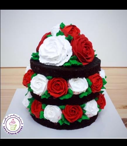 Cake - Roses - Cream 02