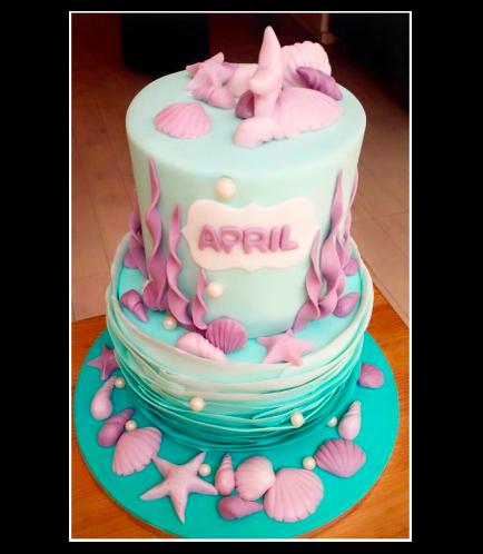 Sea Shell Themed Cake 02