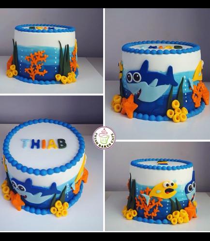 Shark Themed Cake-Baby Shark 3