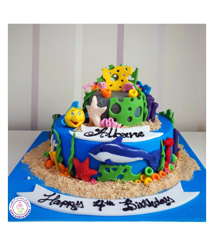 Under the Sea Themed Cake 2