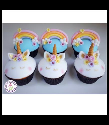 Cupcakes - Unicorn & Rainbow 02