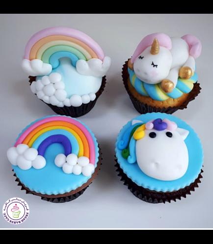 Cupcakes - Unicorn & Rainbow 01