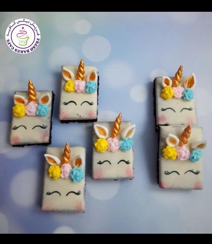 Unicorn Themed Brownies - Flowers 02