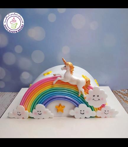 Cake - 2D Cake Topper - Rainbow Cake