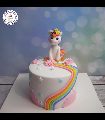 Cake - 3D Cake Topper - 1 Tier 018 - White