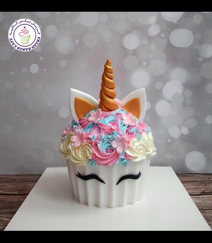 Cake - Mega Cupcake - Unicorn 02