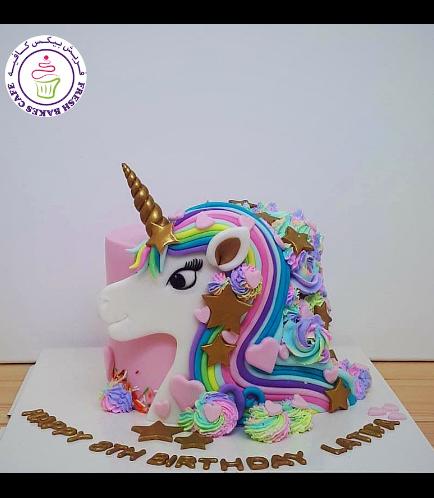 Cake - Picture - 2D Fondant - Front - 1 Tier 002