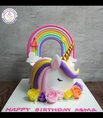 Cake - Picture - 2D Fondant - Front - 1 Tier 003a - 01
