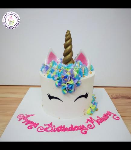 Cake - Unicorn - Cream Cake - Cream Piping - 1 Tier 008