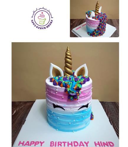 Cake - Unicorn - Cream Cake - Shaded 02