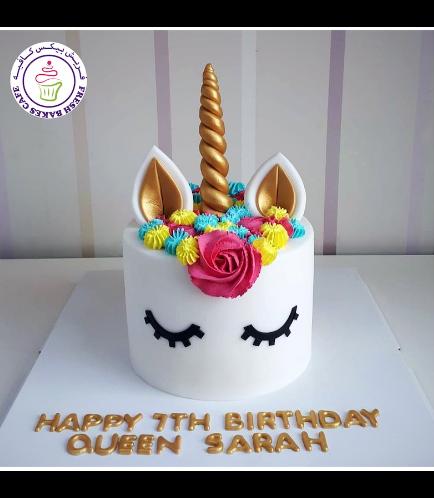 Cake - Unicorn - Fondant Cake - Cream Piping - 1 Tier 028