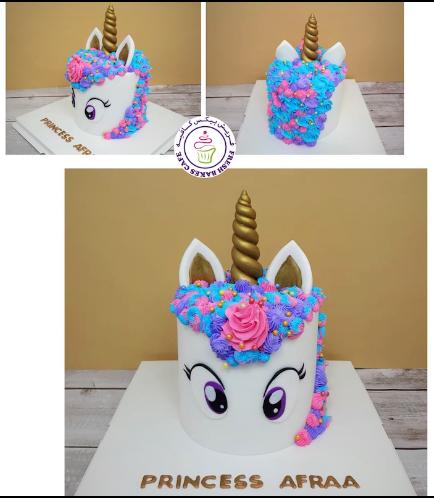 Cake - Unicorn - Fondant Cake - Cream Piping - Big Eyes 02