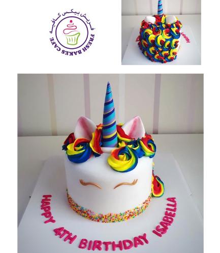 Cake - Unicorn - Fondant Cake - Dome Shape 01