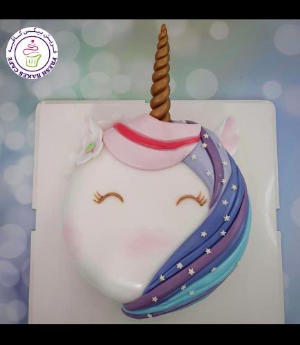 Cake - Unicorn - Fondant Cake - Round Flat