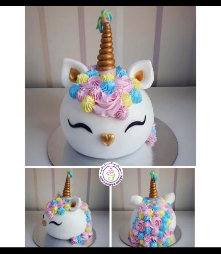 Cake - Unicorn - Fondant Cake - Round Shape 02